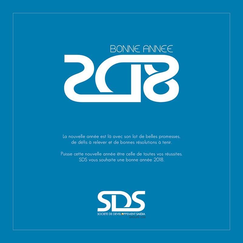 Carte voeux nouvelle année 2018 SDS